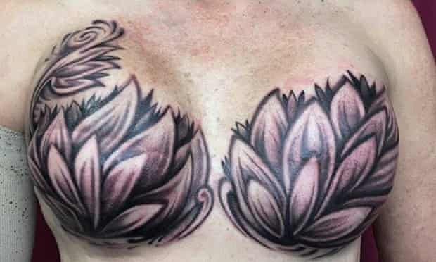 This mastectomy tattoo was shared on the internet 14,000 times in less than 24 hours.