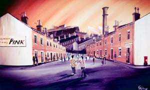 Paul Town's painting commemorating the Bradford City fire.