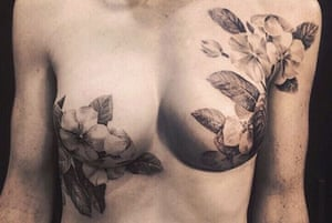 A mastectomy tattoo from the P-ink.org Pinterest site.