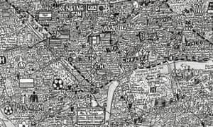 A detail from Kensington & Chelsea Maps Stephen Walter / Prestel Publishing