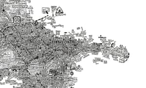 A detail from Westminster Stephen Walter / Prestel Publishing London Maps