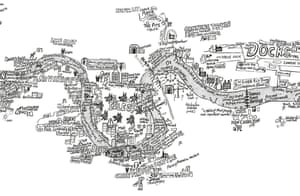 A detail from City Stephen Walter / Prestel Publishing London Maps