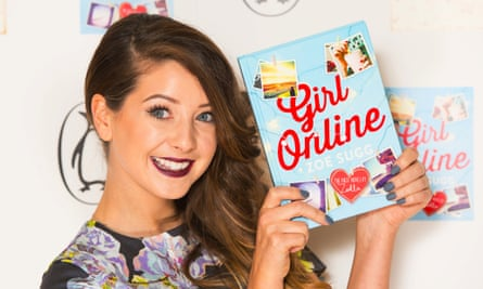 Zoe Sugg, known as Zoella, at the launch party for her book Girl Online.