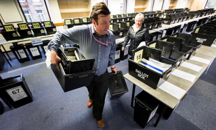 Bolton West ballot boxes