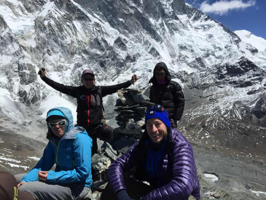 Dan Fredinburg (front right) with some of his fellow climbers in April.