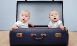 twins in a suitcase