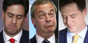 By lunchtime, Ed Miliband, Nigel Farage and Nick Clegg  – household names for several years – had all resigned, their names to be attached forevermore to the words 'former leader'.