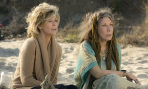 On the peyote ... Jane Fonda, left, and Lily Tomlin in Grace and Frankie,.