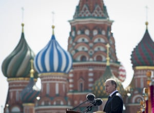 Putin addresses the Victory Parade in Red Square