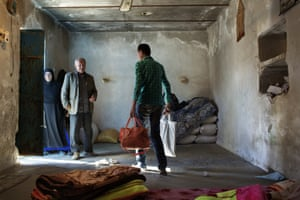 Ghaffar is about to leave his home for the hospital where the transplant will take place