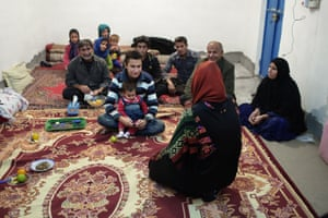 Ghaffar and his family meet Narin a few days before the transplant.