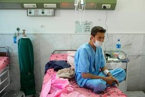 Ghaffar waits in the kidney transplant ward