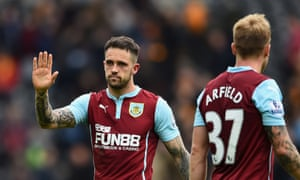 Danny Ings salutes the Burnley fans after his team were relegated from the Premier League, despite his winning goal at Hull.