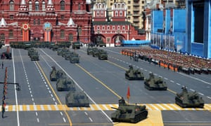 New Russian tanks in Red Square