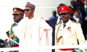 Nigeria's new president Muhammadu Buhari attends his swearing in on 29 May in Abuja.