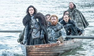 Jon Snow and his not so merry band of brothers in Game Of Thrones, series five, episode eight: Hardhome