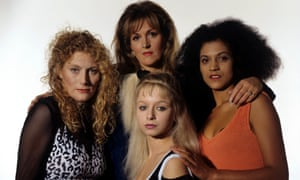 Band of Gold, series 1, 1995 … Geraldine James, Barbara Dickson, Cathy Tyson and Samantha Morton.