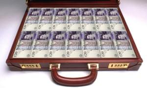 cash in briefcase