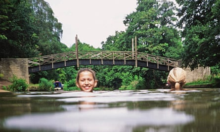 Wild swimming near Guildford.