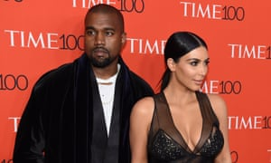 Kim Kardashian and Kanye West at a party for Time magazine.