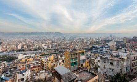 Beirut cityscape.