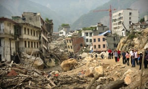 The devastated town of Beichuan in China's earthquake ravaged Sichuan province in May 2009.