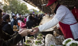 Chinese salad for sale in a street market in Beijing in November 2014.