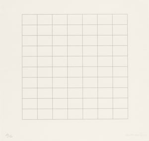 On a Clear Day, 1973, Agnes Martin (1912-2004).