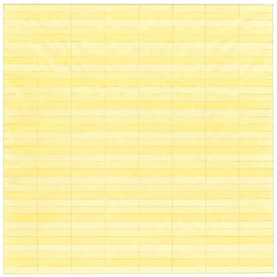 Untitled 1977, Watercolour and graphite on paper, Agnes Martin.