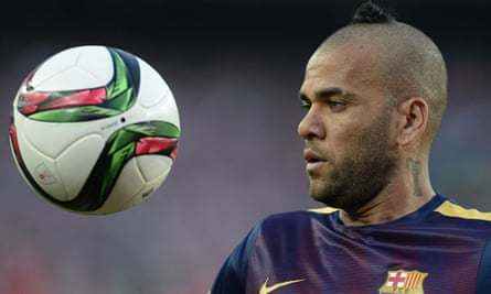 Barcelona's Brazilian defender Dani Alve