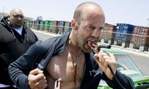 Jason Statham in Crank: High Voltage.