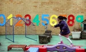 Child in nursery playground