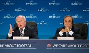 Soccer - Greg Dyke and Michel Platini File Photo