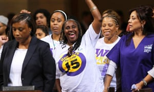 Los ANgeles Council minimum wage $15