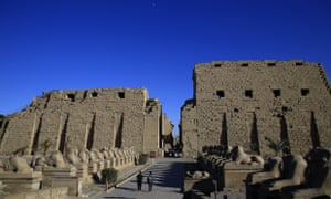The ruins of the Karnak temple in Luxor, Egypt. Egyptian officials say there was a suicide bomb attack at the temple on Wednesday.