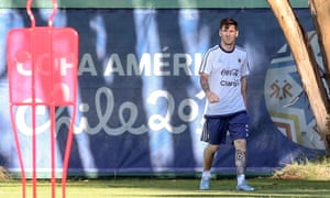 Lionel Messi prepares in Chile for the start of the Copa América, a tournament he has never won.