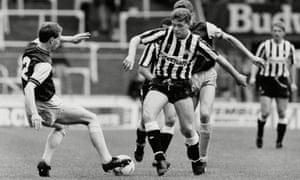 Newcastle's Paul Gascoigne in action against Tranmere on 17 April 1988.