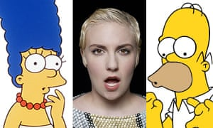 Is Lena Dunham the person that finally comes between Homer and Marge for good?