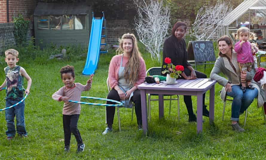 Katie Bracher and her children, Davine Dubidad, and Alexandra Joensson with her son