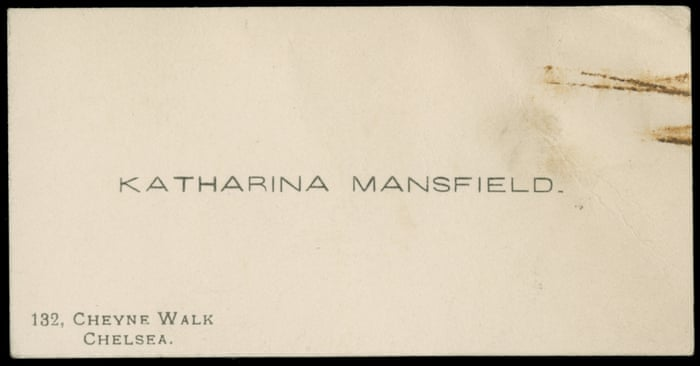 Unknown poems by Katherine Mansfield found in a Chicago