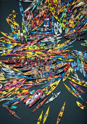 7. The Canoe blockade Activists participate in the sHell No Flotilla part of the Paddle In Seattle protest.  Nearly a thousand people from country gathered May 16, 2015 in Seattle's Elliot Bay for a family-friendly festival and on-land rally to protest against Shell   s Arctic drilling plans.