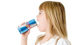 Child drinking Red Bull