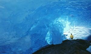 Ice cave at the Mendenhall Glacier, Alaska.