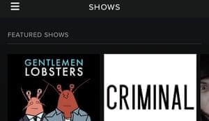 Shows spotify