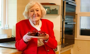 TV cook and author Marguerite Patten at home in Brighton