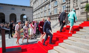 The Danish royal family and prime minister at Christiansborg in Copenhagen.