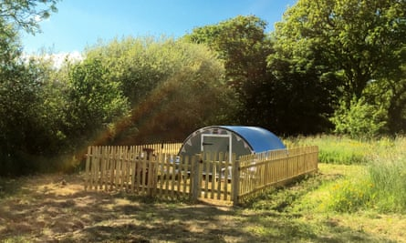 Snout's honour: a pig ark camping pod at Cwmcrwth Farm Holiday Cottages.