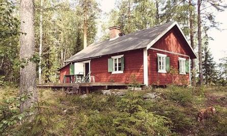 Hidden hideaway: one of Simply Sweden's wooden cabins.