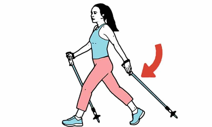 Nordic walking illo