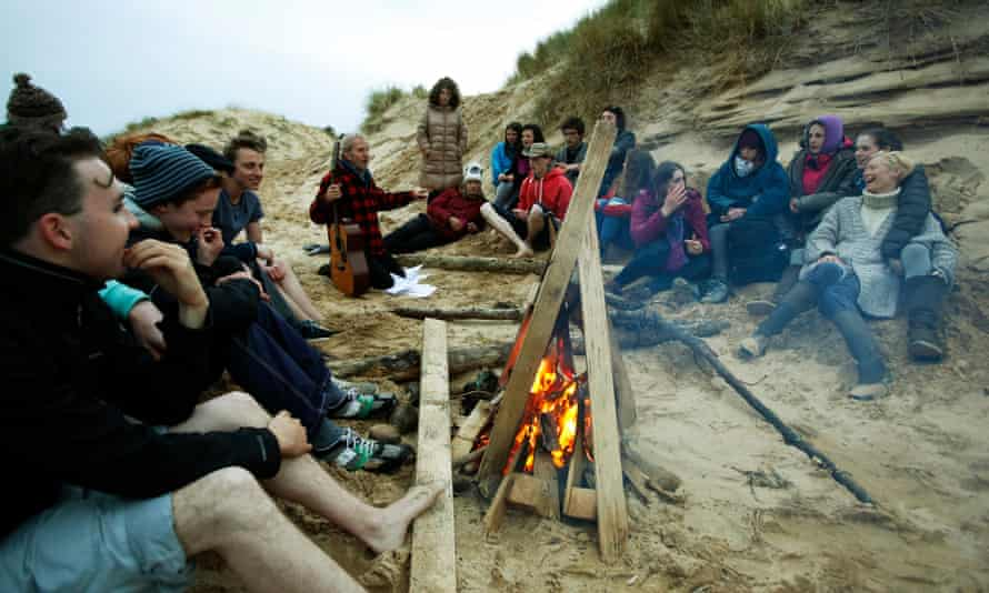 'They're all happy 17-year-olds': songs around acampfire on Colonsay.